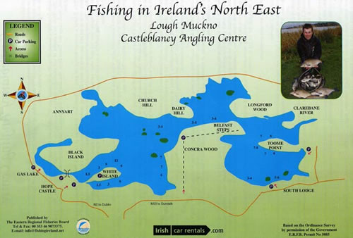Click for map of Lough Muckno