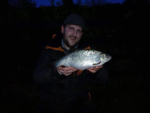 Conor King Lowry with his 2lbs 2oz roach