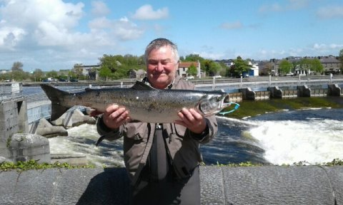 Damien Nolan with a 10lbs Galway springer taken on fly