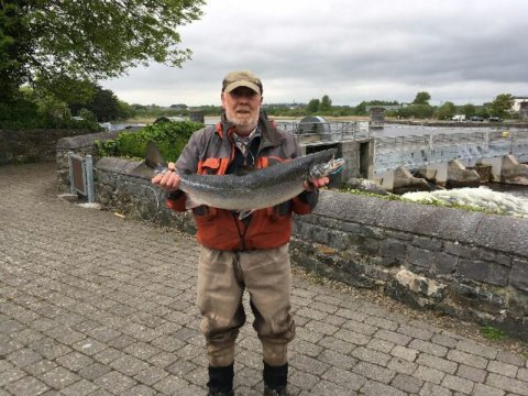 Todge Twomey with his 13.5lbs springer