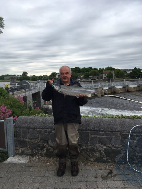 Seamus Harold with a 10.5lbs Galway salmon