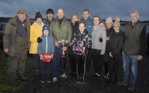 members of the Moffatt family and winner Ciaran Newman