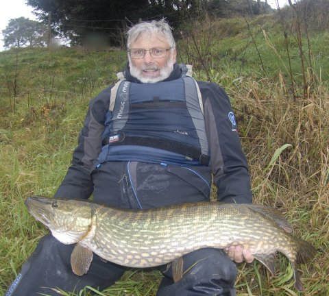 Gordon Davies and his Inny Monster pike weighing 26lbs 2oz