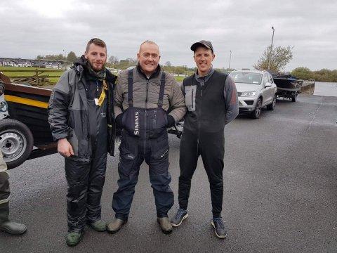 Aidan Traynor and Evaldas Gusarovas with Simon Langan