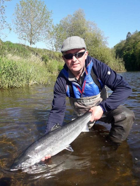 Brian Hennessy releases his salmon