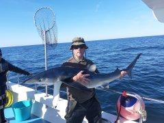 Paul Kirwan with a fine blue shark