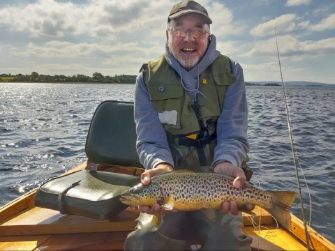 Richard Robinson had this lovely trout while fishing with Ted Wherry of Mayfly Lodge