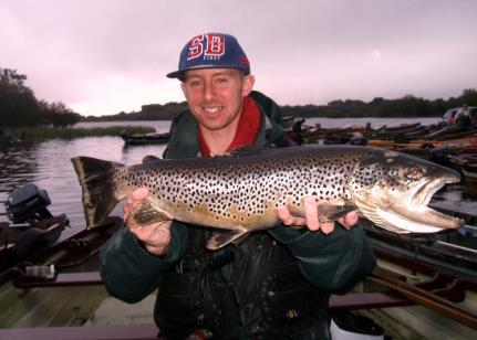 Dylan Ennis, Moate with his 7lbs 8oz trout