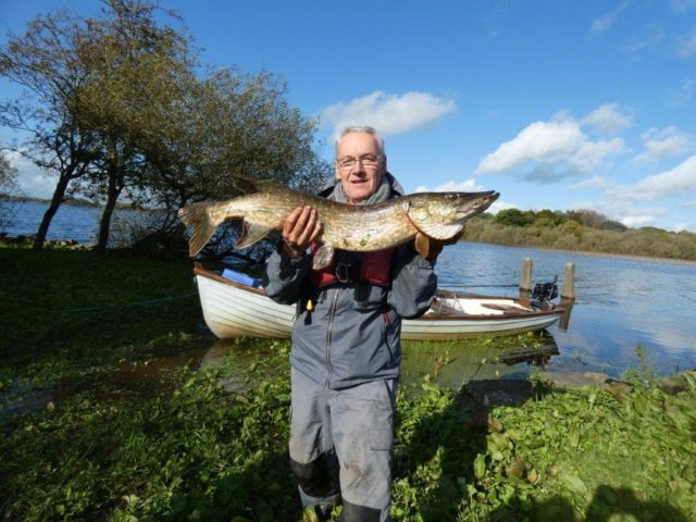 Gerard with his pike catch at Melview Fishing Lodge