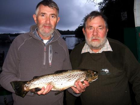 'At the end of the day' Father and son Lawrence and Larry McAlinden with a beautiful fish from Sheelin at the LSTPA competition on October 5th