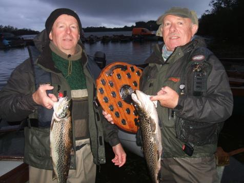 Winners of the Steven & Matt Tormey Shield – Liam McLoughlin (3lb 8ozs) and Noel McLoughlin (3lbs 1oz), 2nd was Ned Shannon with a 3lb 7oz fish.