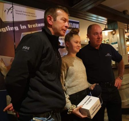 Emma Lowth took a Junior & Lady prize for her fine results with Specimen Smooth Hound