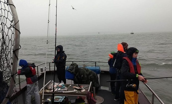 Anglers aboard Camden Mist