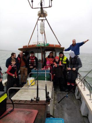 Anglers aboard Deora De