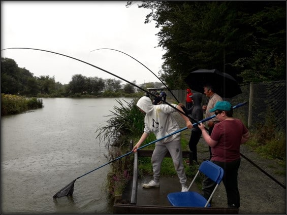 Oaklands youths fishing