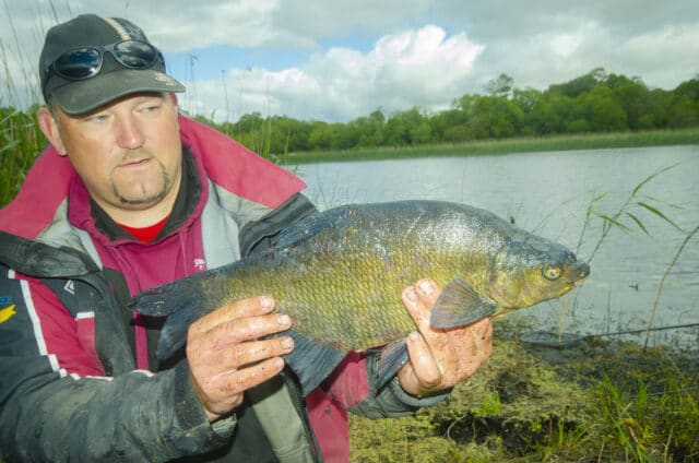 Angler with good size bream