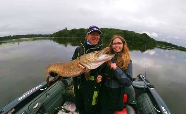 Anna's first ever pike.