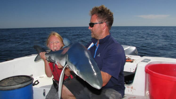 Amy and shark