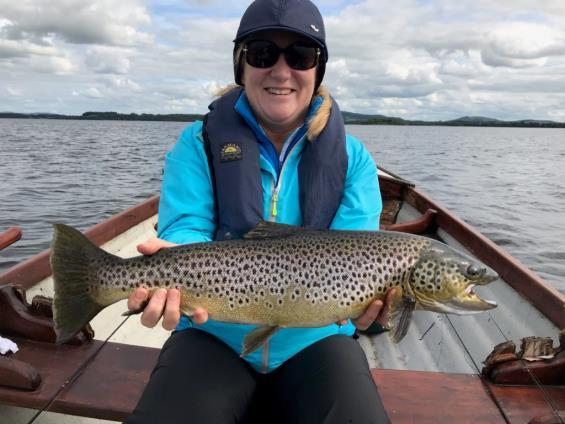 Joan Garahy with her 5lb Sheelin trout