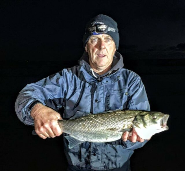 Pat Byrne with his first ever bass. Lovely fish well done Pat