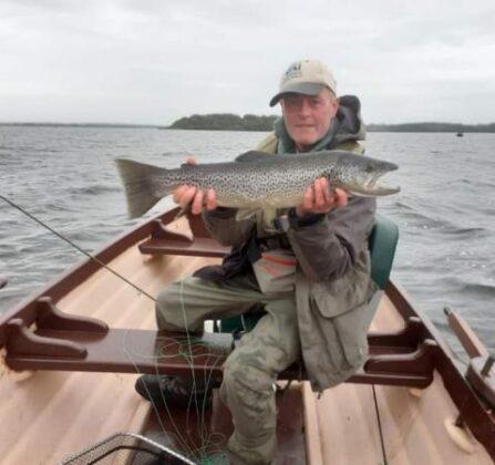 Brian McAvinney, Monaghan with his winning 6lb trout at the Kilroy Cup competition on Saturday September 12th