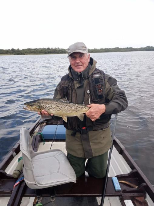 Martin Cruthers, Lisburn with his beautiful autumn trout, September 10th