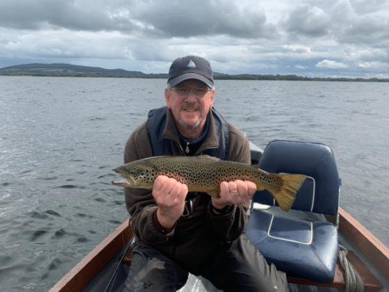 Michael Power with a 54cm trout caught on wets, September 9th