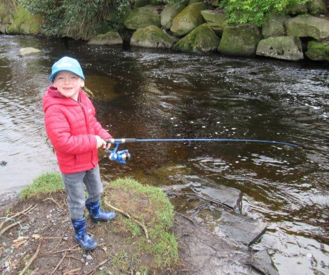 Fishing on the River Dodder, Dublin.