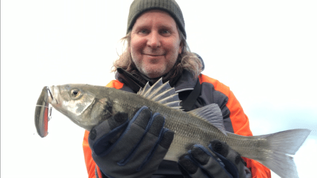 Lure fishing produced this bass from a Wild Atlantic Way mark