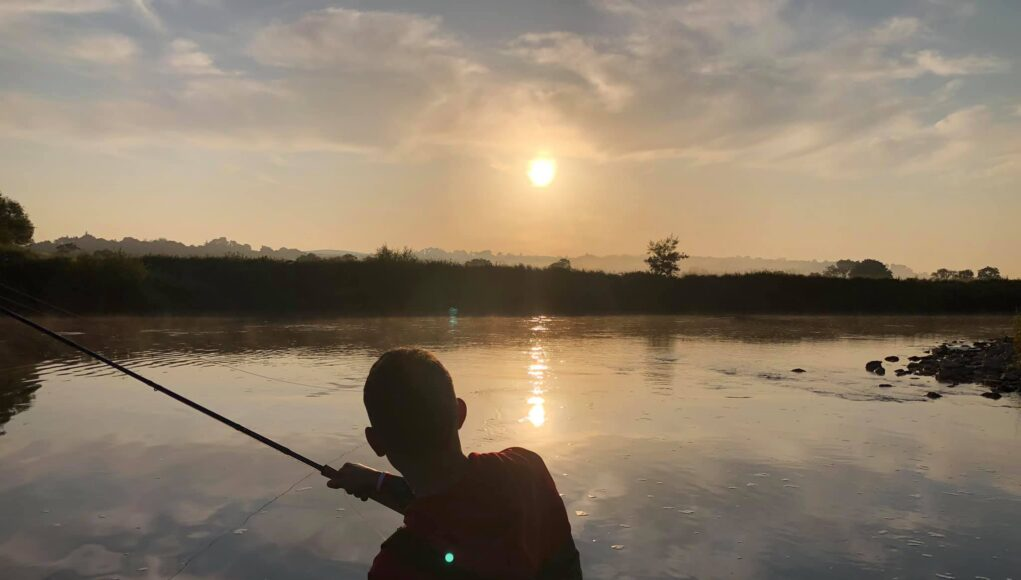 Glenda Powell captures a moment in salmon fishing at Blackwater Salmon Fishery