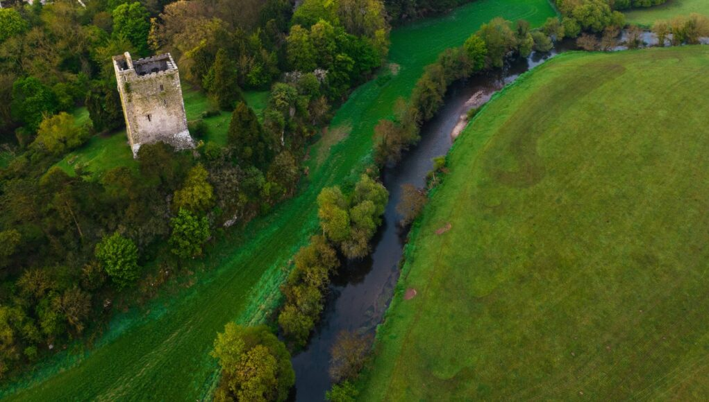 Aerial view of the Bride at Conna