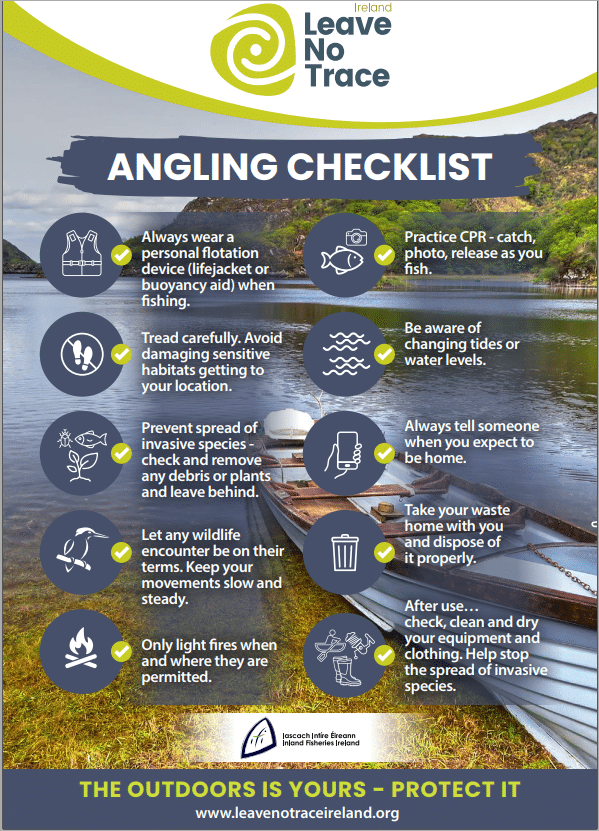 Leave No Trace Angling Check List