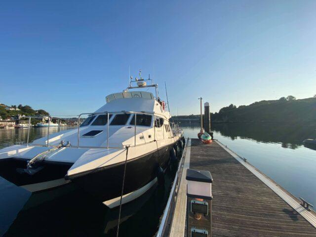 Ocean Ranger is a Safehaven Marine Wildcat. Twin Volvo Pentas. A superb craft.