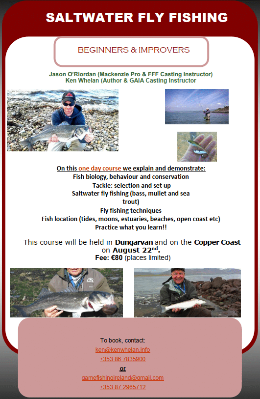 Saltwater FLy Fishing course flier